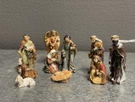 Kerst groep, 10 delen, resin, 5.5  cm (9)