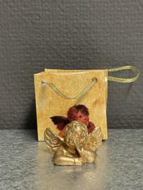Engel in cadeau tasje 3 x 5 cm, resin (10)