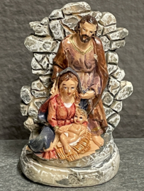 Kerstgroep, 7 cm, resin (9)