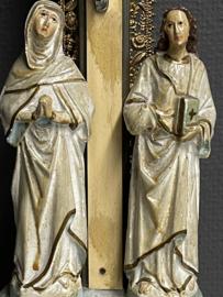 Kruis met Maria en Johannes, gips, hout, 1900, 47 x 17 cm (8)