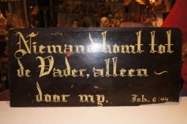 Kerkbord / bijbelspreek  hout eind 1800
