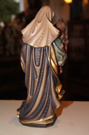 Anna te Drieën, houten beeld 20 cm, Anna, Maria en Jezus -H-