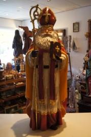 Sint Nicolaas 77 cm, resin kan ook buiten