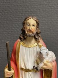 Jezus, Goede Herder, resin, 20 cm (10)