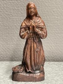 Bernadette Soubirous, resin, lijkt op hout, 13 cm (8)