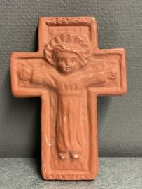 Terracotta kruis, kindje Jezus, 20 x 14 cm (8)