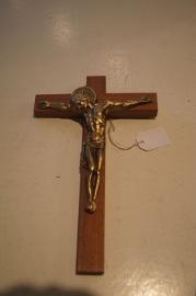 Crucifix met bronzen corpus 17 x 10 cm