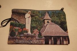 Stoffen etui Maria OLV van Banneux 14 x 10 cm