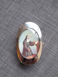 Pillendoosje heilige Rita, 2 vakjes, 6 cm