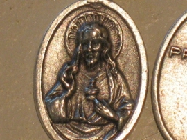 Devotie medaille Heilig Hart Jezus 2 cm