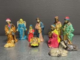 Kerstgroep, porselein, 10 cm 11 delen (9)