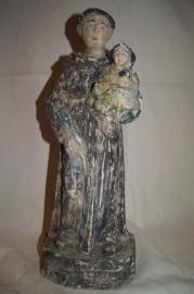 Antonius 45 cm Goa houtsnijwerk 18e eeuw