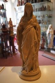 .Maria Heilig Hart 41 cm hoog gips ca. 1900