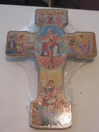 Heilige Michael kruis 24 x 17.5 cm