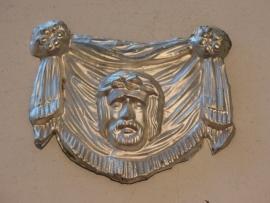 Ex-voto, zweetdoek van Veronica, zilver 11 x 8 cm