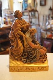 Maria OLV van Rust houtsnijwerk 21 cm
