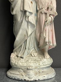 Jozef met kind ,44 cm, gips, 1900. (10)