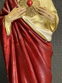 Jezus Heilige Hart beeld, gips, 22 cm, 1900 (6)