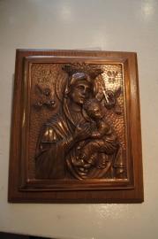 Koperen plaquette Maria Altijddurende bijstand 18 x 15 cm
