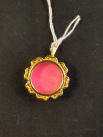 Theca, relikwie medaillon, leeg, doorsnee 3 cm.