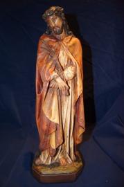Jezus, de man van Smarten 40 cm gips ca. 1900