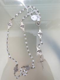 Rozenkrans, Lourdes Jezus Heilig Hart, 50 cm, glas kraal