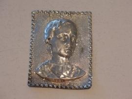 Ex-voto hoofd, zilver, 9 x 7 cm