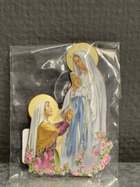 Maria OLV van Lourdes, 7 cm, koelkast magneet (0)