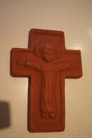 Terracotta crucifix 19 x 13 cm