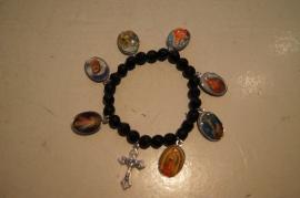 Armband, gitten stenen met heiligen afbeeldingen