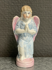 Engel, knielend, biscuit porselein, 9 cm (0)