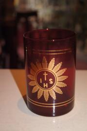 Godslamp glas 11 cm voor 6 dagen kaars (2)