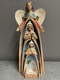 Kerstgroep Engel, 20 cm, resin, 4 delen (9)