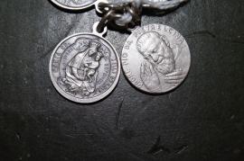 Pater Pio / Maria medaille 2 cm