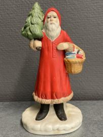 Antiek, kerstman, biscuit porselein, 16 cm (9)