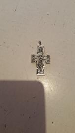 Orthodox kruisje, achterzijde Michael, 5.5 cm, metaal.
