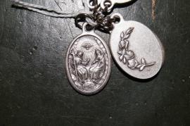 Medaille Heilige drie eenheid 2 cm Vader, Zoon H. Geest