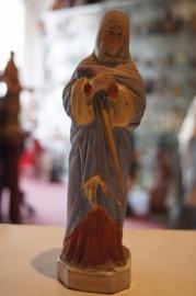 Maria Moeder van Smarten biscuit porcelein 17 cm eind 1800