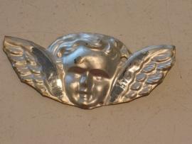 Ex-voto engel kopje, zilver, 8 x 4 cm Putti