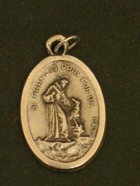 Devotie medaille Franciscus met wolf 2.5 cm