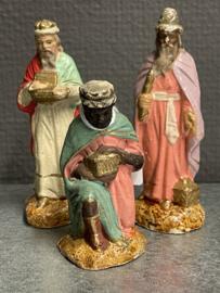 Drie koningen, antiek, aardewerk, kleine beschadigingen, 10 cm (9)