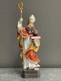 Arnoldus / Willibrordus, bisschop 20.cm resin, (4)