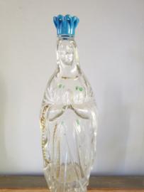 Wijwaterfles Lourdes 1930 glas 21.5 CM (17)