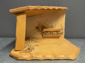 Kerststal, hout, 20x20x15 cm (11)