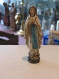Maria OLV van Lourdes 12 cm resin