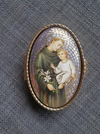 Rozenkrans doosje, Heilige Antonius, 7 cm