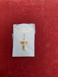 Kruisje, zilver / verguld, 2.5 cm