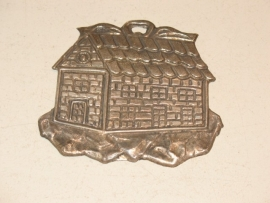 Ex-voto huis zilver 10 x 9 cm