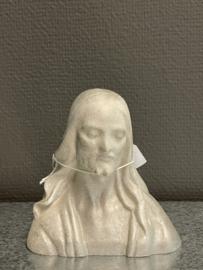 Jezus buste, 13 cm, geverfd zoutsteen (1)