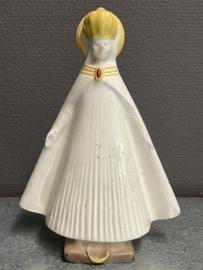 Mantel Maria, porselein, 20 cm, 1930, neus beschadigd (8)